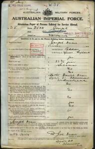 Joe Dean enlistment
